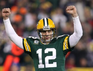 Aaron Rodgers just became NFL history by throwing over 50,000 yards! Here's how the legendary feat happened.