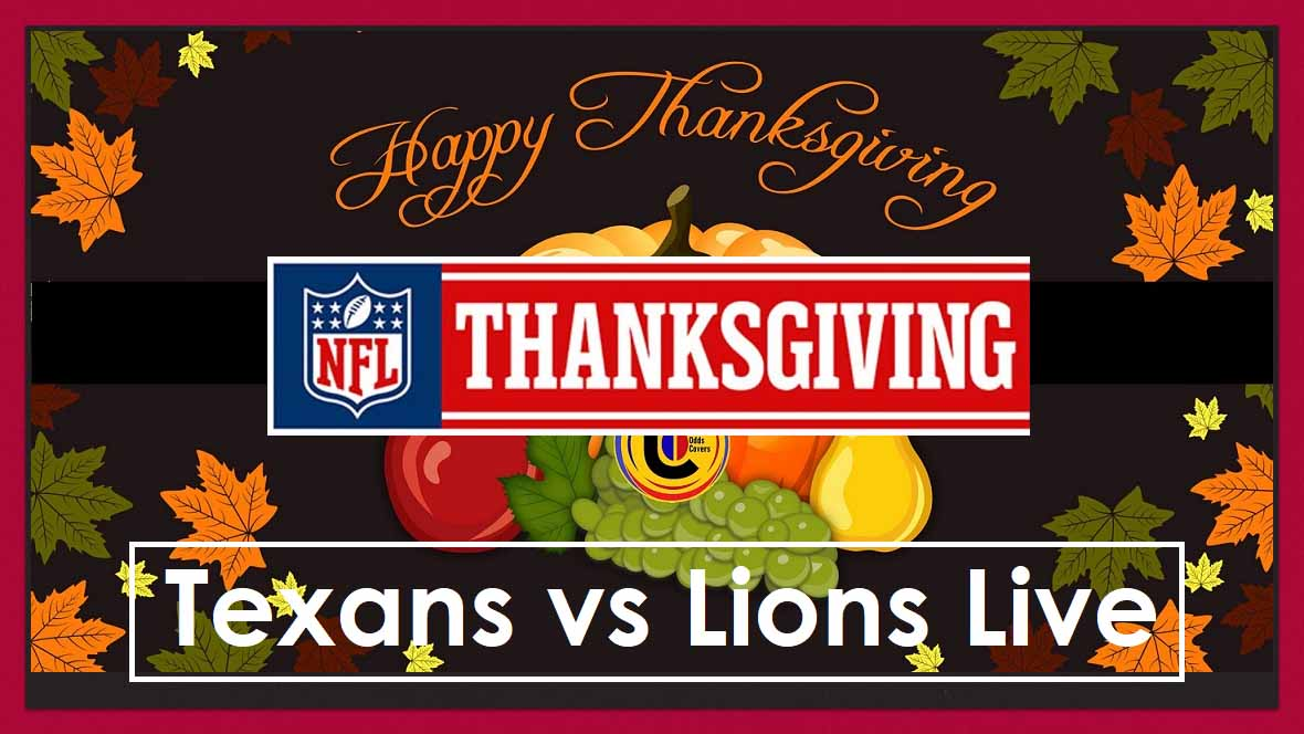 The Lions continue their Thanksgiving tradition by playing the first NFL game against the Texans on Thursday. Here's where to live stream the game for free.