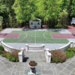Basketball is a favorite game of men, women, and children in the world. Get some inspiration for your outdoor basketball court here.