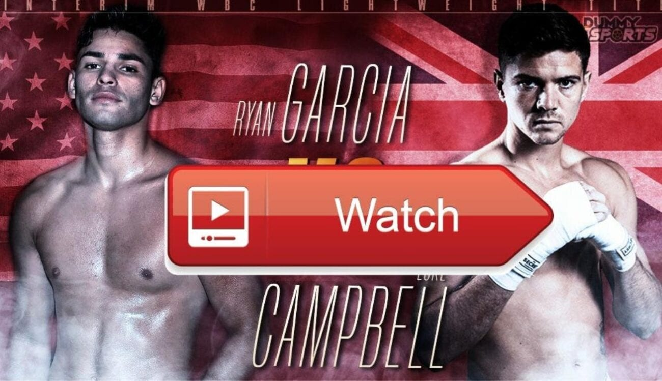 Garcia is set to take on Campbell for the interim lightweight title. Find out how to live stream the fight for free online.