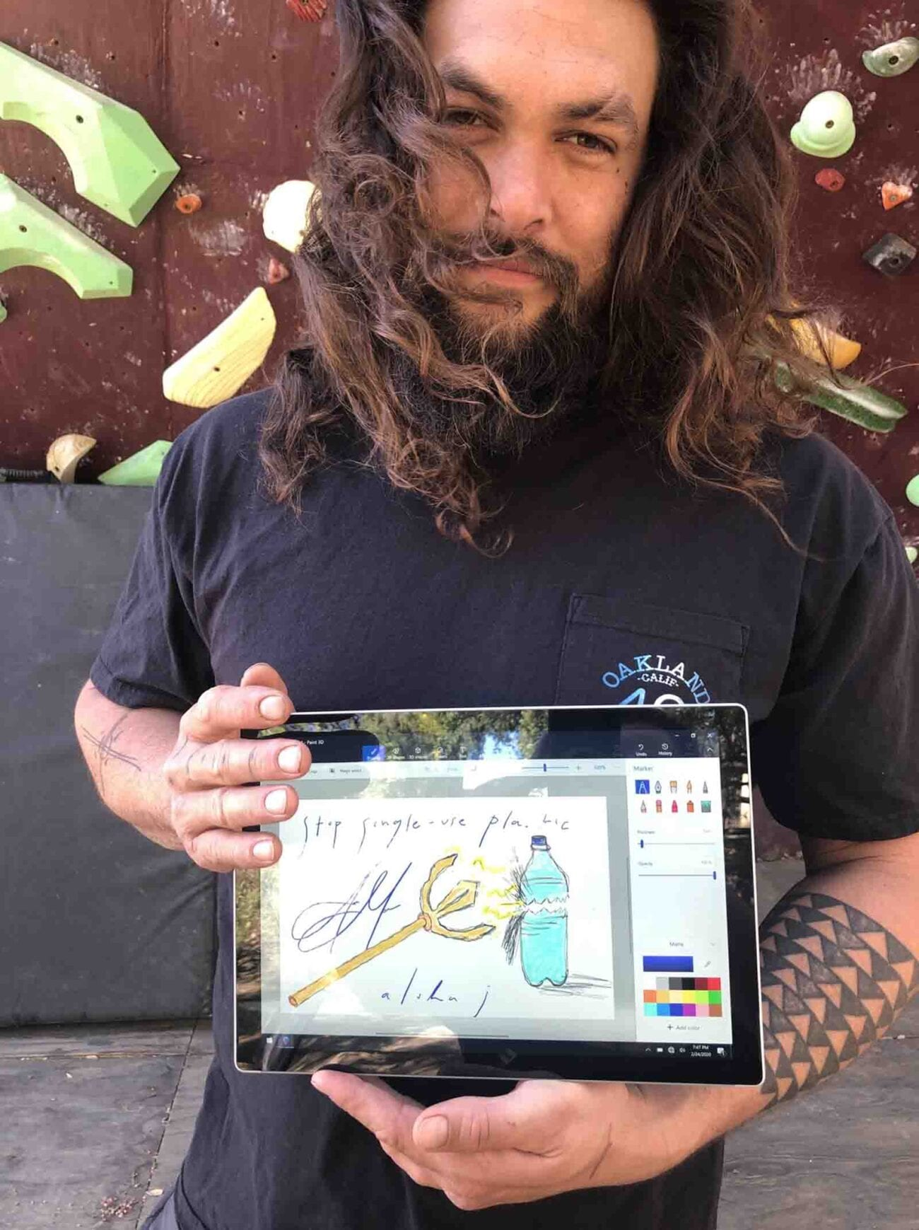 Want a drawing done by Jason Mamoa himself? Bid on this charity auction which will benefit climate change and reforestation organizations.