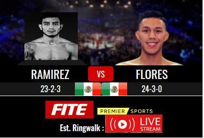 Check out the Ramirez vs Flores boxing fight live by checking out one of these live streams.