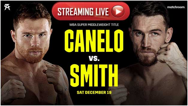 Check out Canelo vs Smith tonight by checking out one of these live stream sites.
