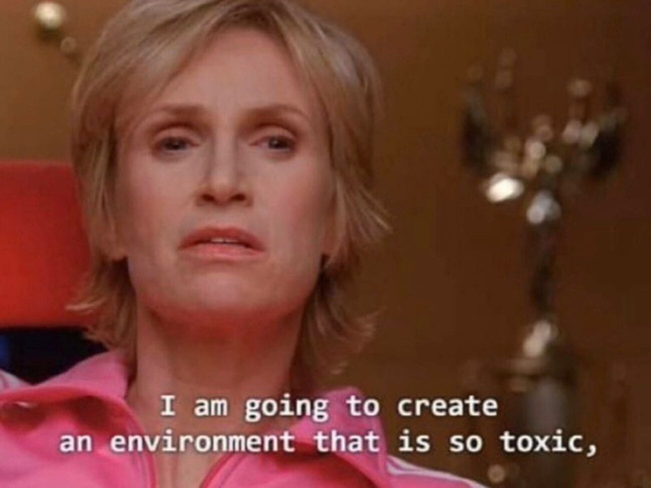 From episode seven in season one (the only truly good season of 'Glee'), Sue Sylvester provided questionable monologues. Here are her best memes.