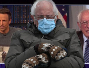 The former presidential nominee is plastering our feeds. Here are all the places Bernie Sanders has been . . . in the form of memes.