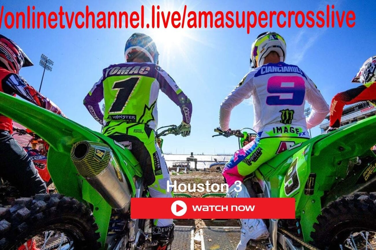 Round 3 of the 2021 AMA Supercross is taking place on Saturday in Houston. Check out the best ways to stream this exciting motocross event.