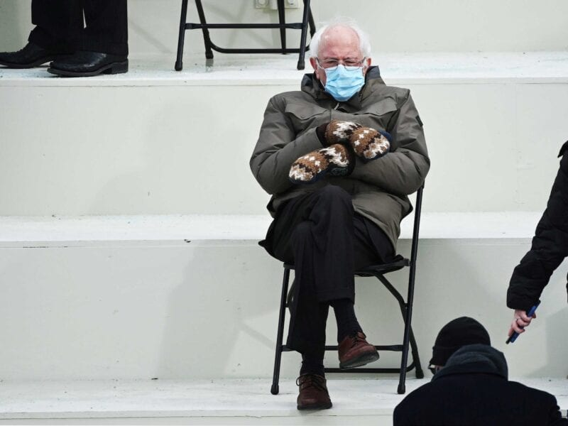 Did Bernie Sanders look a bit lonely on Inauguration Day? Well he might have been the star of the show. Take a look at the most hilarious Bernie memes.