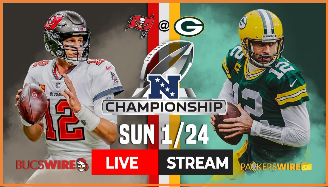 The Tampa Bay Buccaneers face the Green Bay Packers for the NFC Championship 2021. Watch the Reddit live stream now.