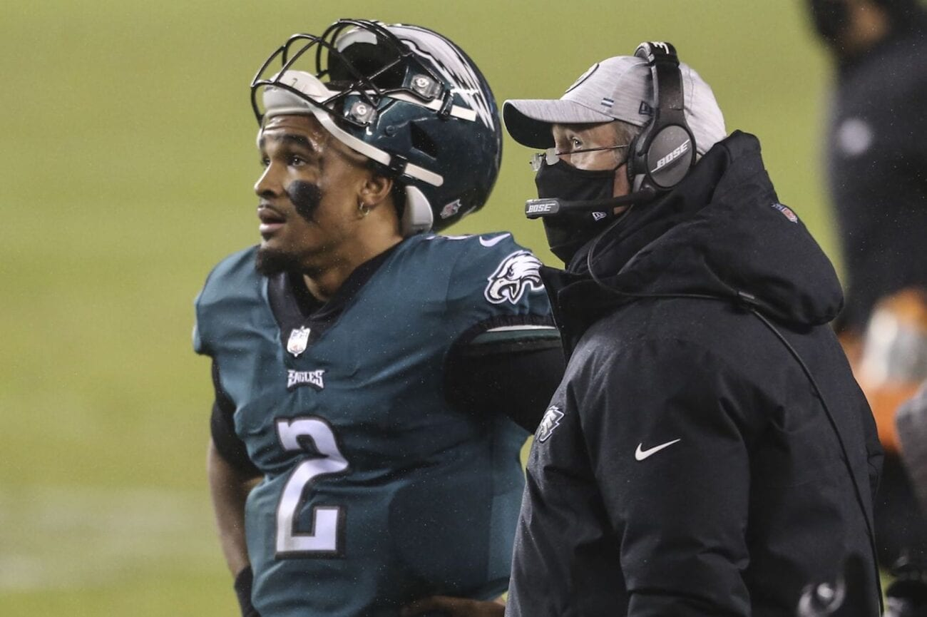 Philadelphia Eagles Head Coach Doug Pederson benched quarterback Jalen Hurts in a winnable game. Read all about the decision's backlash here.
