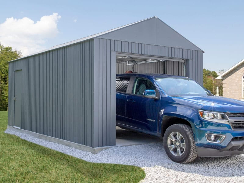 Whether you're storing your car for the winter or building a new man cave, adding a new garage can be easy to do and easy on your wallet!