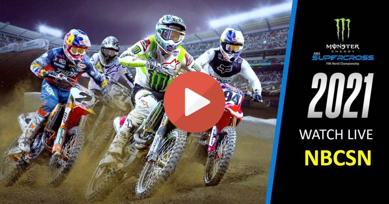Check out the 2021 Monster Energy AMA Supercross tonight by watching through one of these live streams.