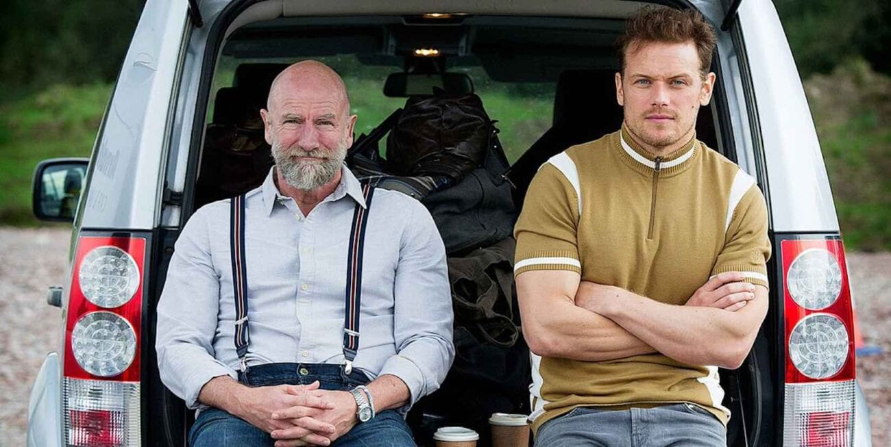 'Outlander' stars Sam Heughan & Graham McTavish appear in 'Men in Kilts: A Roadtrip with Sam and Graham'. Here are the best Twitter reactions.
