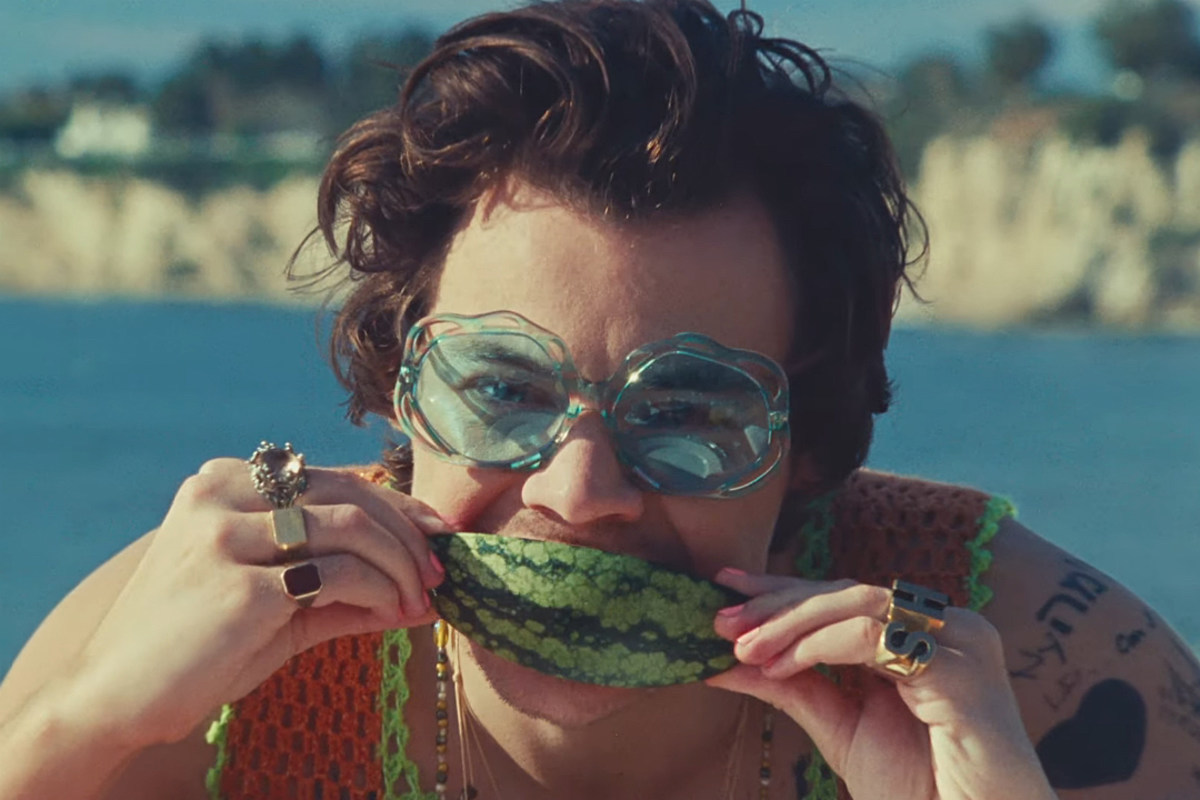 "Harry Styles is soaring ""Watermelon Sugar, HIGH"" on Spotify charts right now. Read all about how this star is setting musical records left and right."