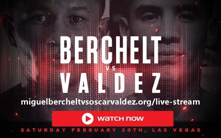 Looking for a place to live stream the big match tonight? Watch Berchelt vs. Valdez right here, right now.