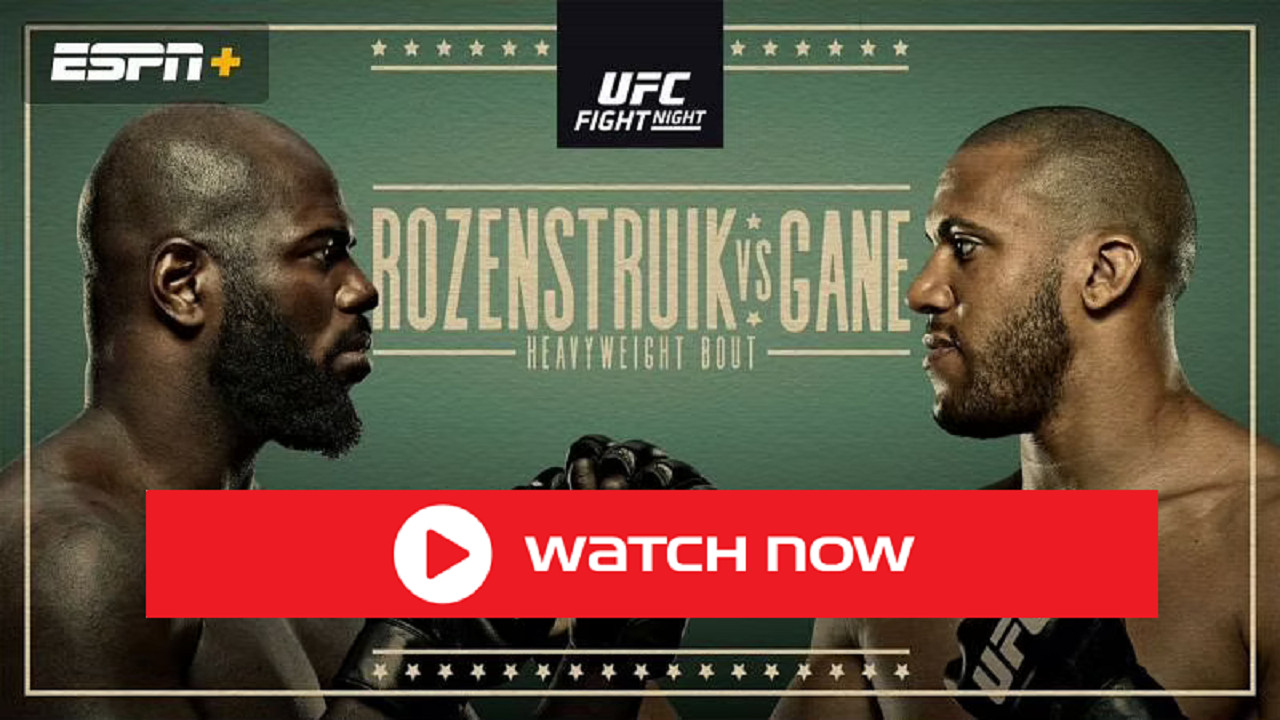 Looking for a place to watch UFC Fight Night? Live stream the Rozenstruik vs Gane match ASAP without any hassle with these tips!