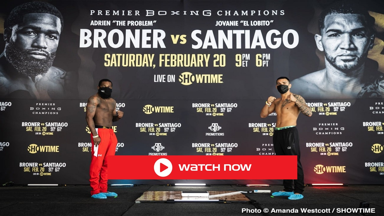 Don't miss the matchup of Broner vs. Santiago tonight. Live stream the match from anywhere in the world. Here's how!