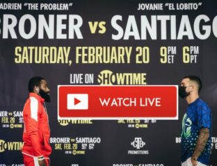 Broner is gearing up to face Jovanie Santiago. Find out how to live stream the anticipated boxing bout online.