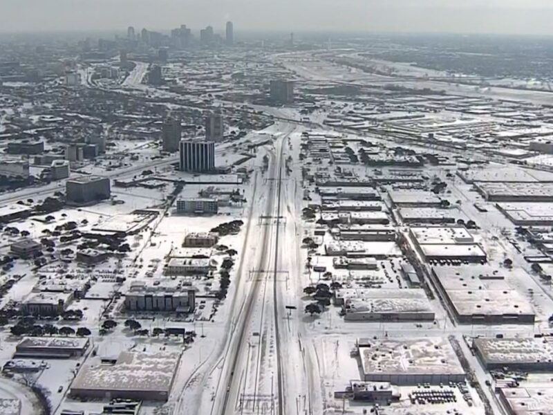 There is snow in Texas. For the first time in a decade, Texas is facing a winter storm that's knocking out the power grid. Read why it's happening here.