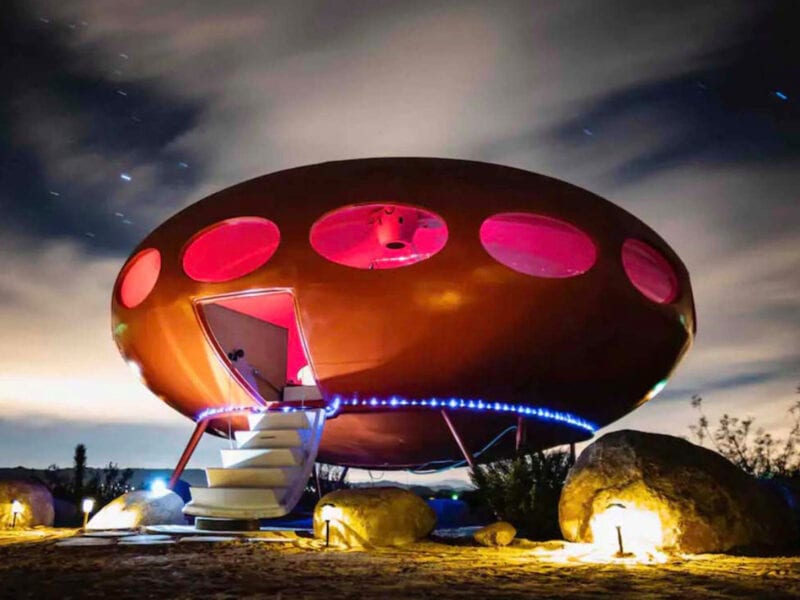 Want to live out your science fiction fantasy by living in an alien spaceship? Check out how you can book a getaway that's truly out of this world.
