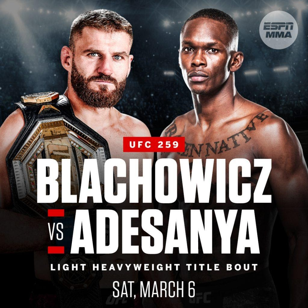 UFC 259 Live- How to Watch Blachowicz vs Adesanya Stream