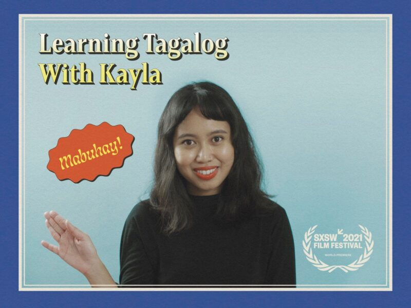 'Learning Tagalog with Kayla' looks like any old language tutorial, but the four minute short film will take you on a journey. Here's why you need to watch.
