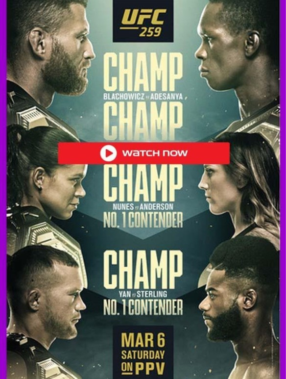 UFC 259 is here. Learn how to live stream the UFC sporting event online for free.