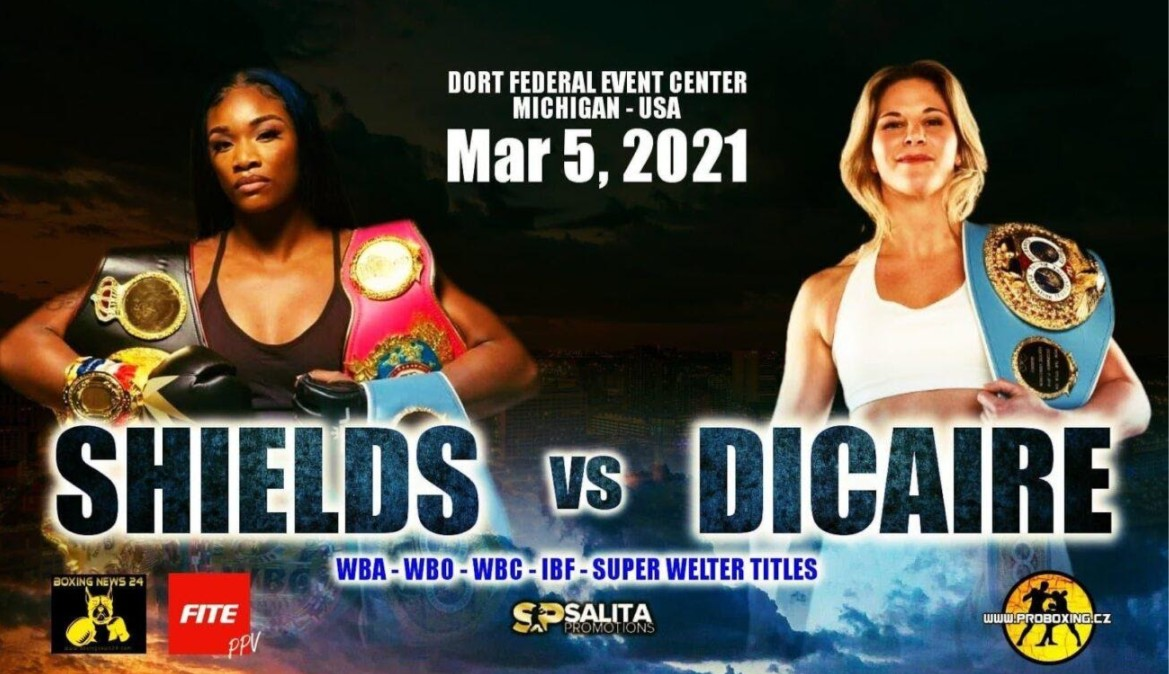 Shields is prepping to face Dicaire in the boxing ring. Find out how to live stream the event on Reddit for free.
