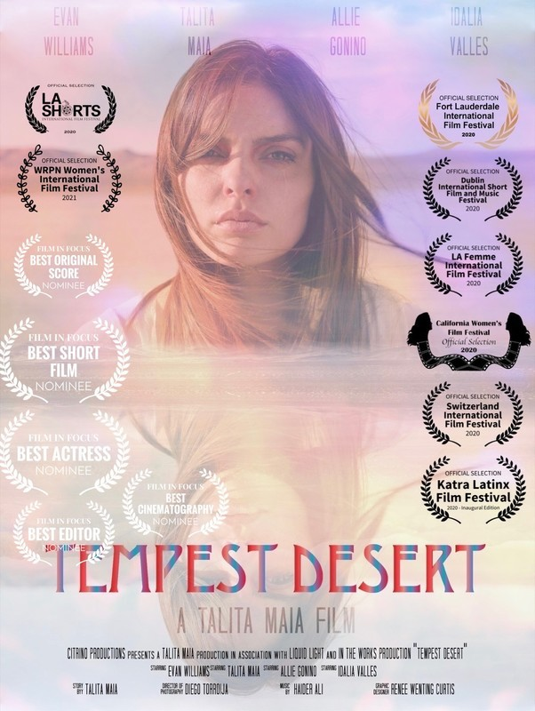 'Tempest Desert' is the new film by director Talita Maia. Learn about the film and the exciting filmmaker here.