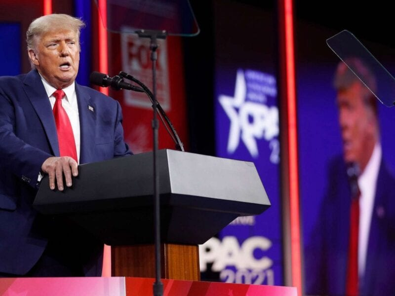 After almost two months banned from Twitter, Donald Trump was able to cut loose during his CPAC speech. Enjoy some fresh Trumpian rhetoric!