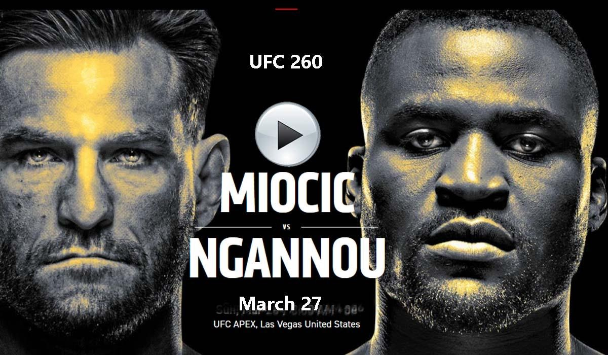 Stipe Miocic and Francis Ngannou are the main event of UFC 260. Take a look at the best ways to live stream this fight in the octagon.