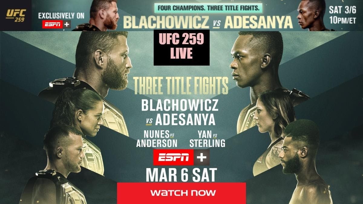 UFC 259 is happening Saturday night and features a schedule full of great fights. Check out the best fights and the best ways to live stream this event.
