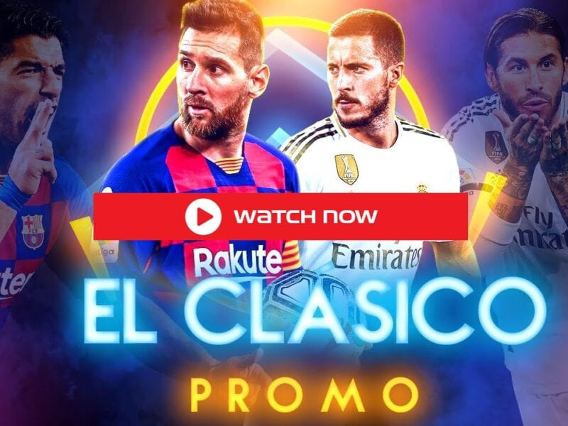 Engaged in a tight title race, Sunday's El Clasico will be a virtual six-pointer. Here's how you can watch the live event.