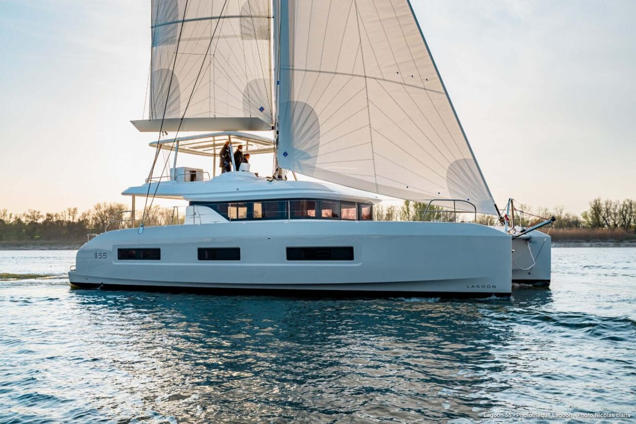Lagoon catamarans are very popular when it comes to yacht design. Learn more about catamarans here.