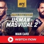 The UFC welterweight champion Kamaru Usman will look to create history this weekend. Watch the UFC 261 live stream for free here.