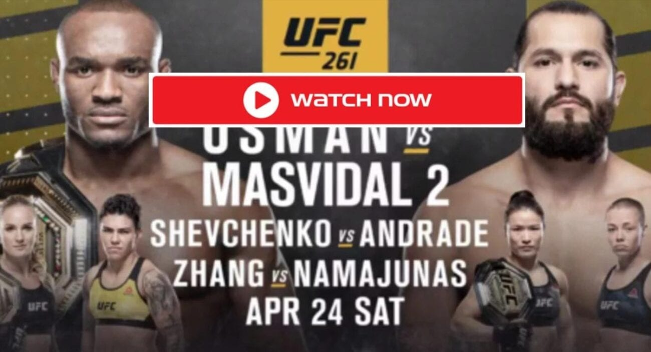 Usman is gearing up to face Masvidal. Find out how to live stream the UFC 261 fight online for free.