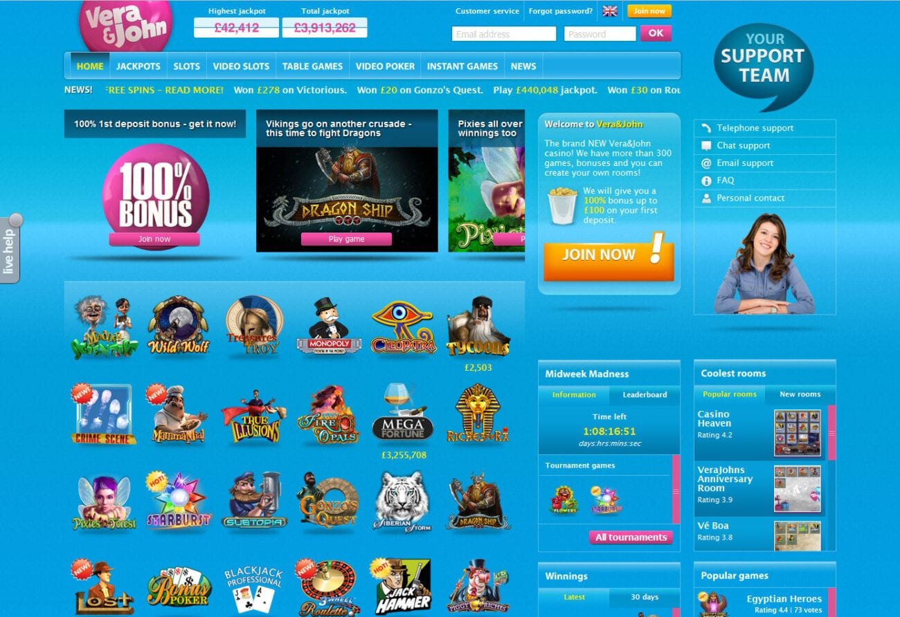 Vera and John is a top notch casino. Find out what makes it one of the best online options in the world.