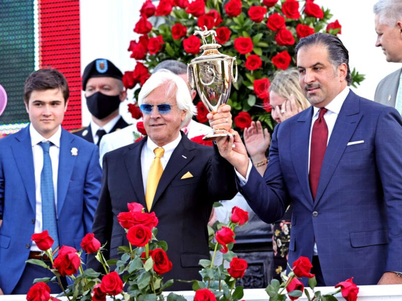 Medina Spirit's Kentucky Derby win may be in jeopardy after the racehorse failed a drug test. See why trainer Bob Baffert is denying the allegations.