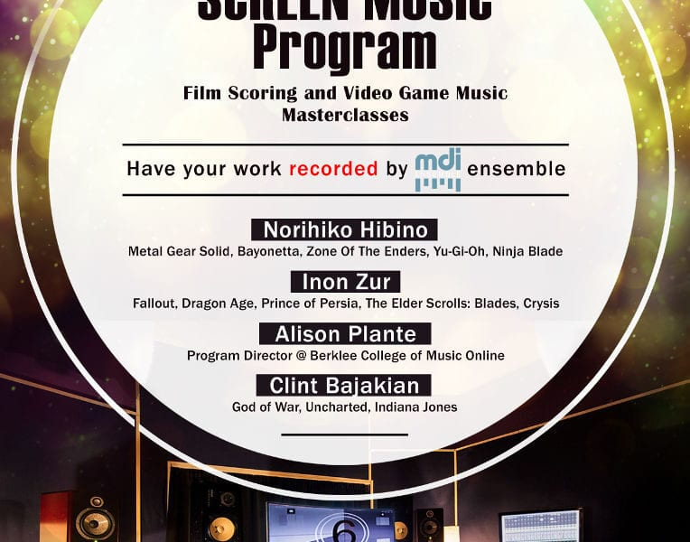 The Screen Music Program is offering a summer school option for scoring lessons. Learn more about the lessons here.