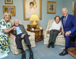 Joe Biden and wife Jill Biden visited their friends Jimmy and Rosalynn Carter, but the internet can't help but make a few jokes. Check out the memes here.