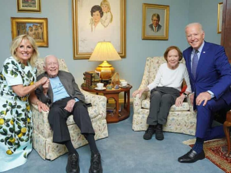Joe Biden and wife Jill Biden visited their friends Jimmy and Rosalynn Carter, but the internet can't help but make a few jokes. Check out the memes here.