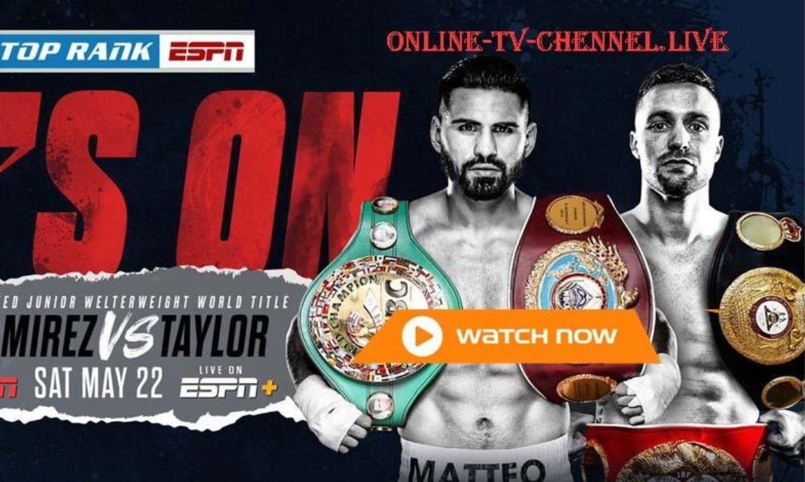 Taylor is gearing up to face Ramirez in the ring. Find out how to live stream the boxing match online for free.