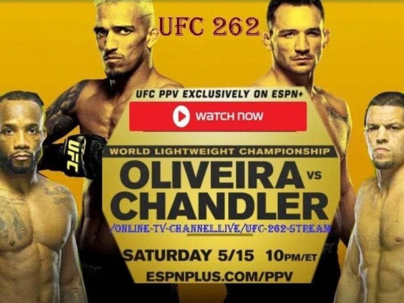 Don't miss a minute of the action! Stream Oliveira vs Chandler and the rest of UFC 262 from anywhere in the world without a big hassle!