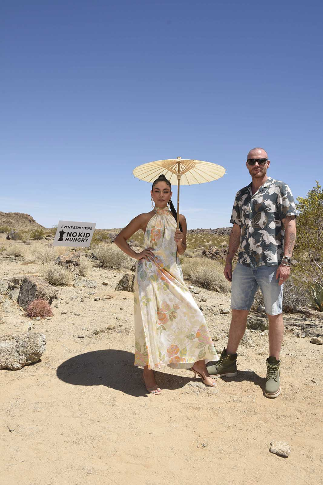 Co-founders Vanessa Hudgens and Oliver Trevena hosted a bunch of VIPs at Joshua Tree to celebrate the launch of Caliwater. Peek at the exclusive event.