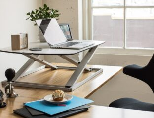 A standing desk is a big boost for those who work from home. Find out how a standing desk can improve your productivity.