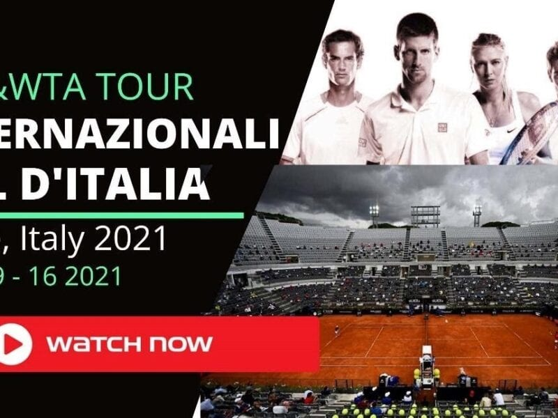 The tournament Italian Open 2021 begins on May 9 and will be played until May 16. Here's how you can live stream the tennis event.