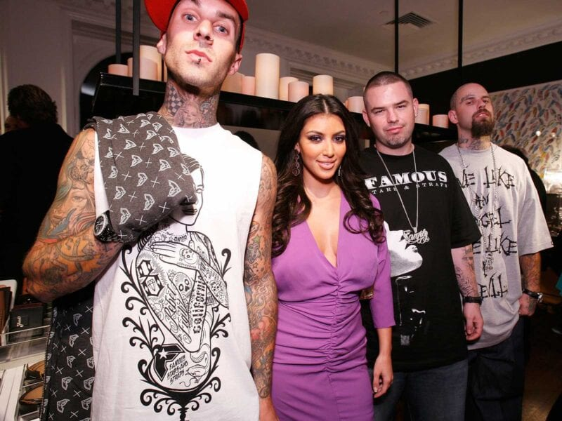 Has Travis Barker moved on to a different Kardashian sister? His ex-wife claims he cheated with Kim, but how true are the rumors? Get the tea.