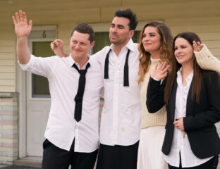 Missing 'Schitt's Creek' on your screen? Soon, you can catch up with your favorite characters in an all-new book. Peek behind the scenes here!