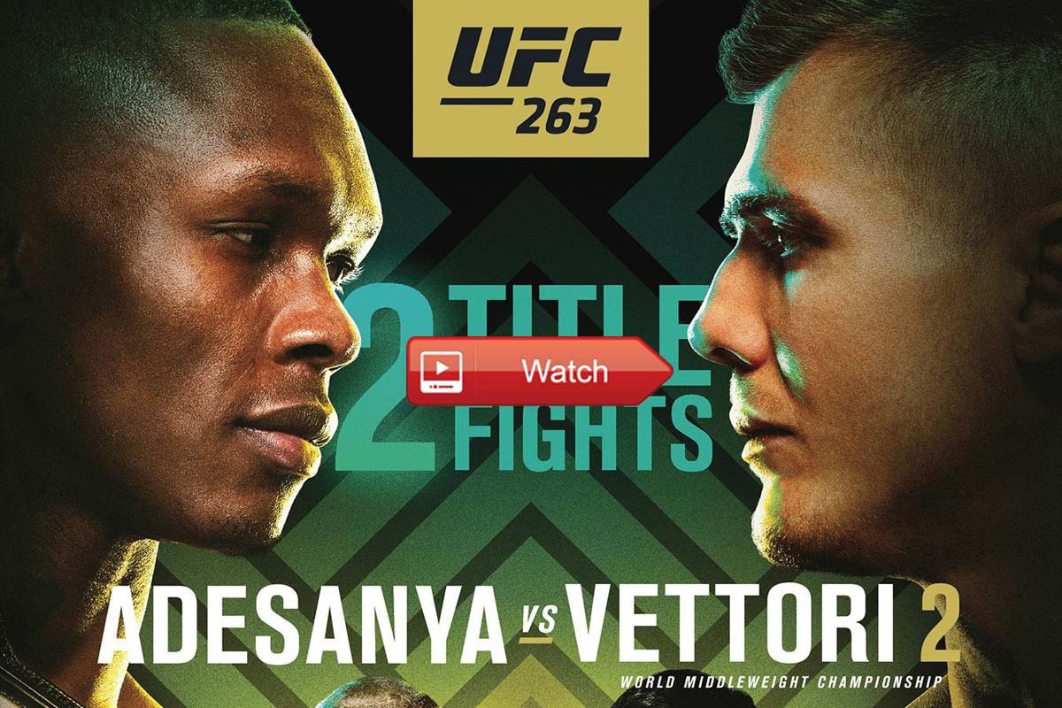 Attention MMA fans! Don't miss the biggest fight of the weekend! Watch the full UFC 263 fight card live for free from anywhere in the world right now!