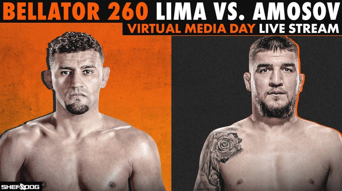 The main event of Bellator 260 Live Stream online is welterweight champion Douglas Lima vs Yaroslav Amosov reddit free MMA full fight.
