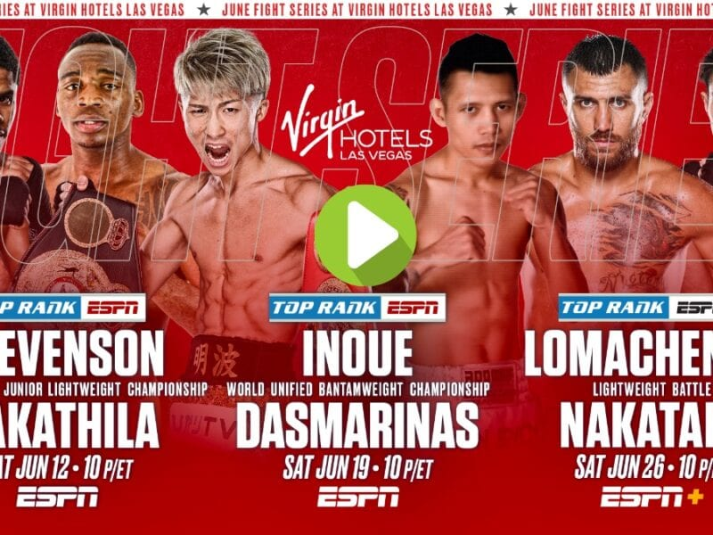 At this event, Shakur Stevenson vs. Jeremiah Nakathila live will air on ESPN+ at 10:00pm. Watch the live stream here.